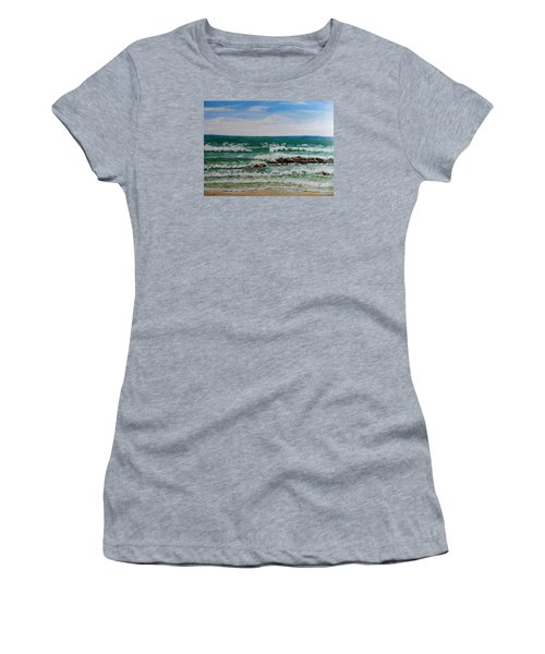 Breaking Waves Women's T-Shirt (Athletic Fit)