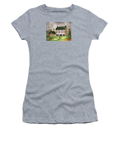 Bringing Home The Ducks Women's T-Shirt (Junior Cut) by Angela Davies