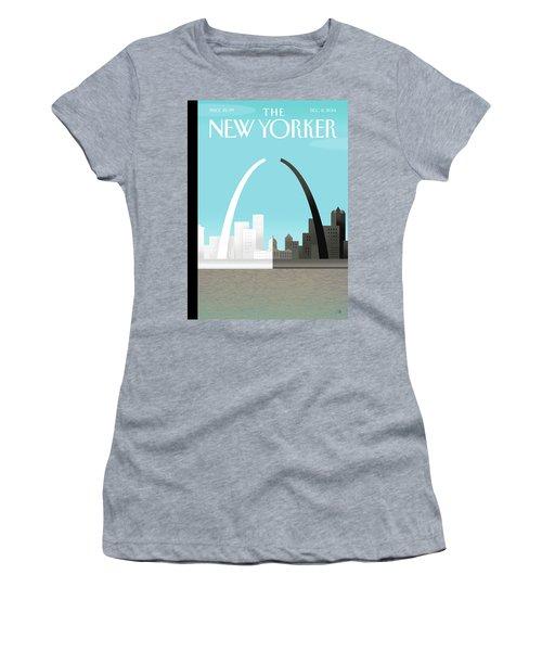 Broken Arch. A Scene From St. Louis Women's T-Shirt