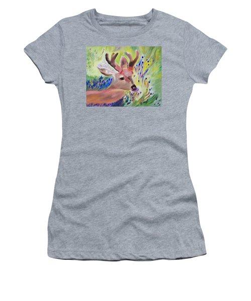 Budding Fields Women's T-Shirt (Junior Cut) by Meryl Goudey