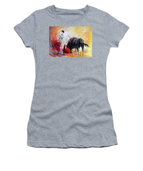 Bull In Yellow Light Women's T-Shirt (Athletic Fit)