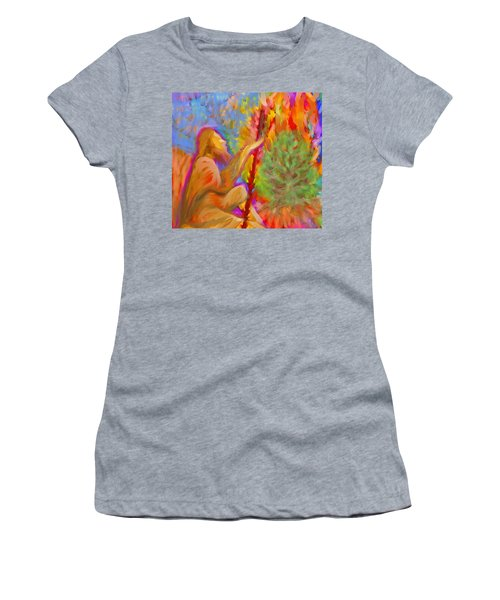 Burning Bush Of Yhwh Women's T-Shirt (Athletic Fit)