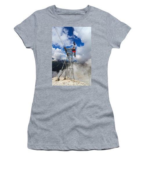 cableway in Italian Dolomites Women's T-Shirt (Athletic Fit)