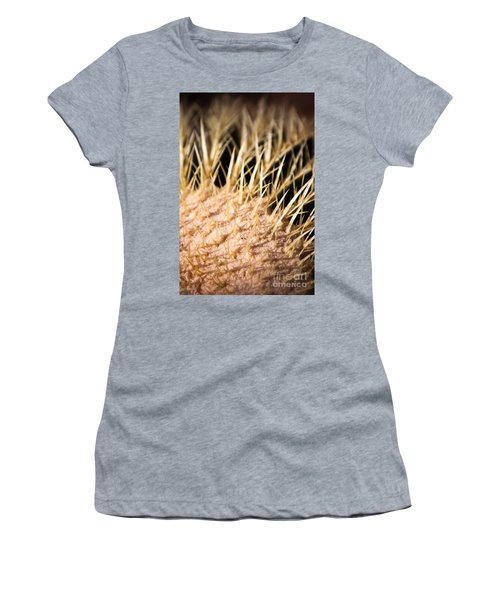 Women's T-Shirt featuring the photograph Cactus Skin by John Wadleigh