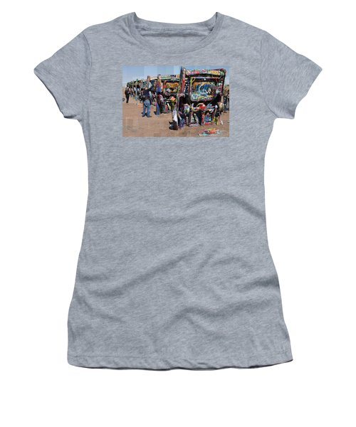 Cadillac Ranch Oblique Women's T-Shirt (Athletic Fit)