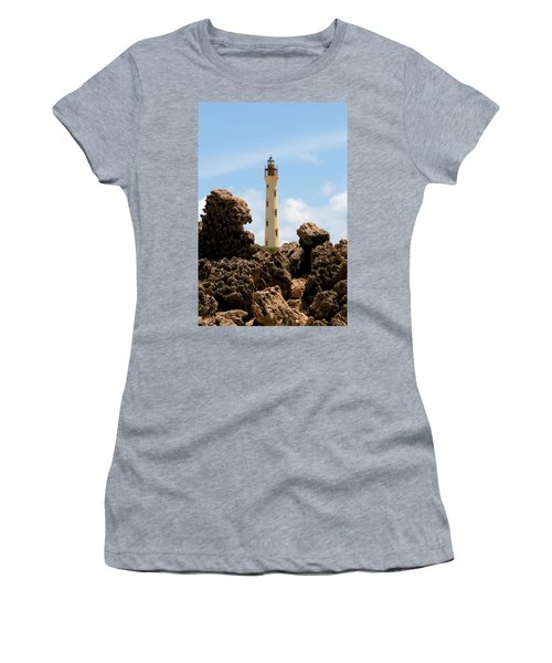 California Lighthouse Aruba Women's T-Shirt (Athletic Fit)