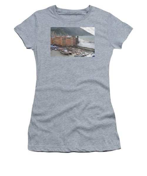 Women's T-Shirt (Junior Cut) featuring the photograph Camogli Under A Storm by Antonio Scarpi