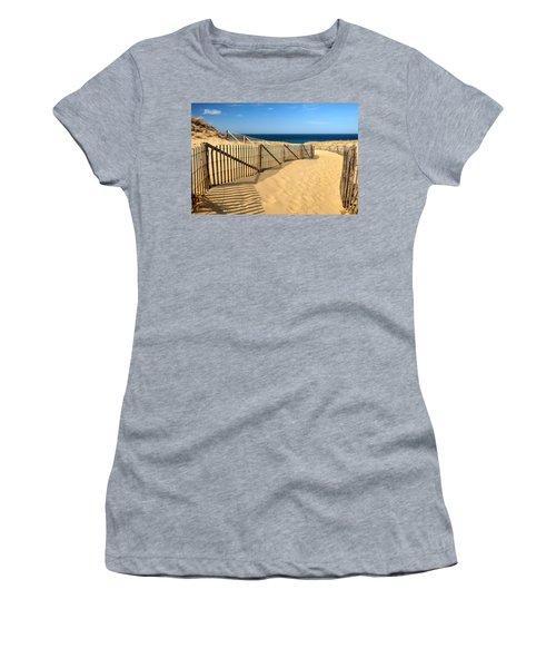 Cape Cod Beach Women's T-Shirt (Athletic Fit)