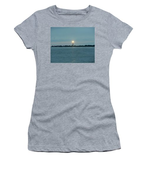 Women's T-Shirt (Junior Cut) featuring the photograph Cape May Beacon by Ed Sweeney