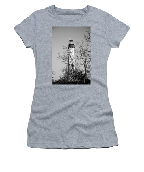 Cape May Light B/w Women's T-Shirt (Athletic Fit)