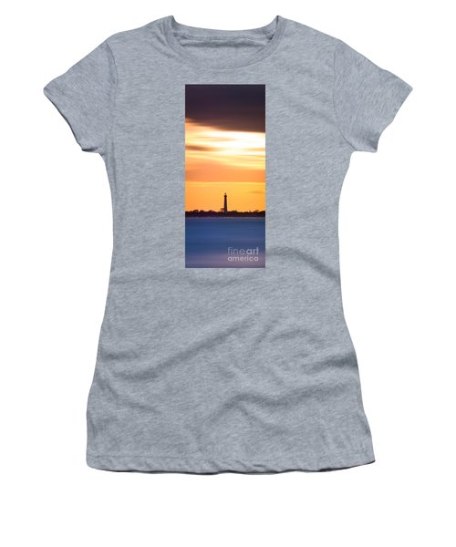 Cape May Lighthouse Narrow Long Exposure  Women's T-Shirt