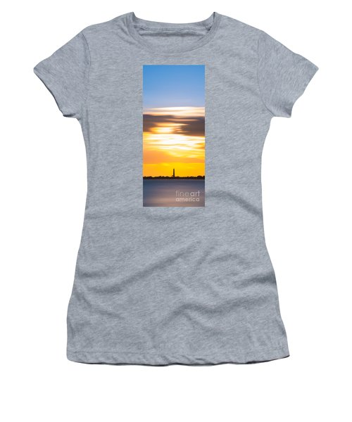 Cape May Lighthouse Vertical Long Exposure Women's T-Shirt