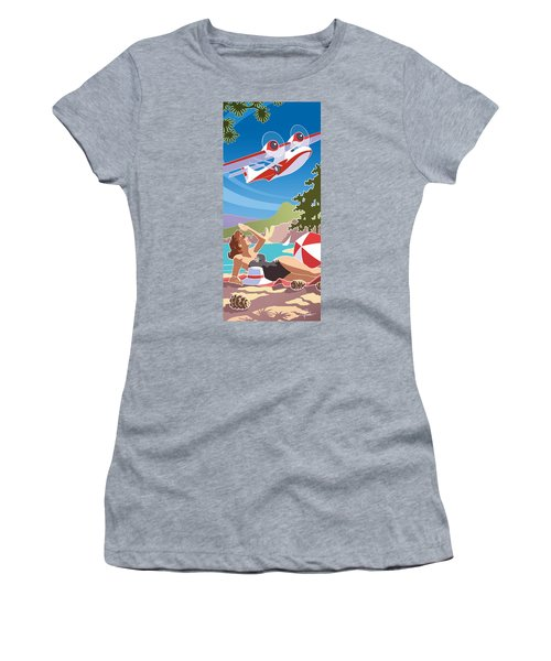 Catalina, Mid Century Travel Women's T-Shirt (Athletic Fit)