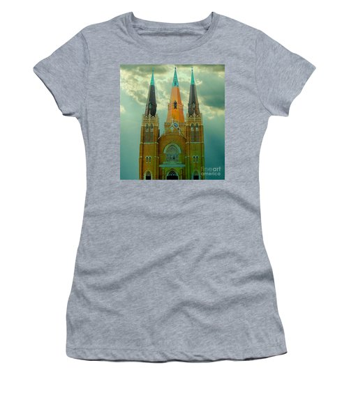 Cathedral Of The Holy Family  Women's T-Shirt (Junior Cut) by Janette Boyd