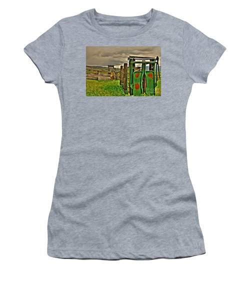 Women's T-Shirt (Junior Cut) featuring the photograph Cattle Chute by Sam Rosen