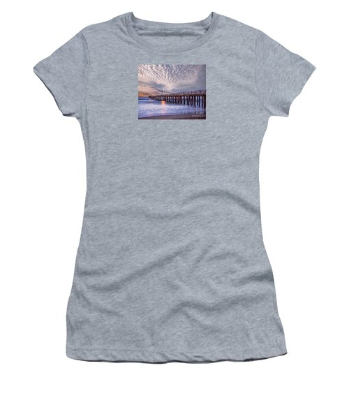 Cayucos Pier Women's T-Shirt (Junior Cut) by Alice Cahill