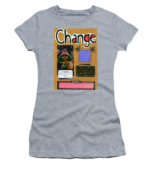 Change - Handmade Card Women's T-Shirt (Athletic Fit)