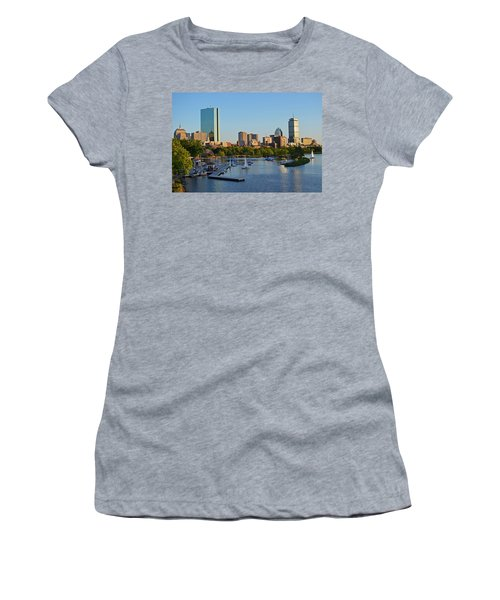 Charles River At Sunset Women's T-Shirt (Athletic Fit)