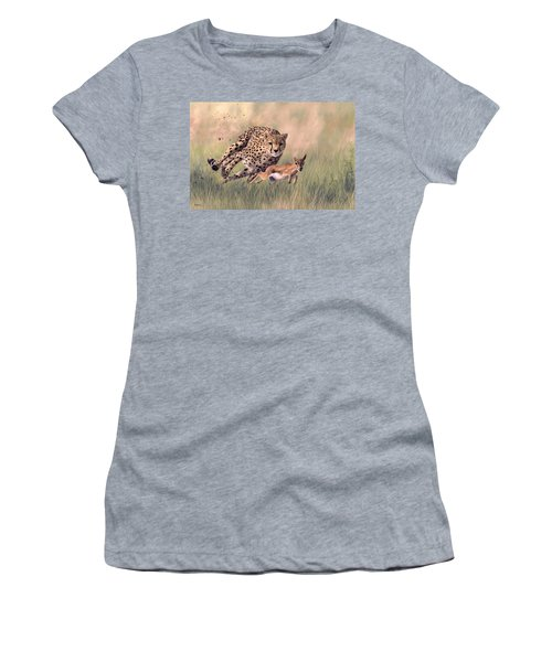 Cheetah And Gazelle Painting Women's T-Shirt (Athletic Fit)