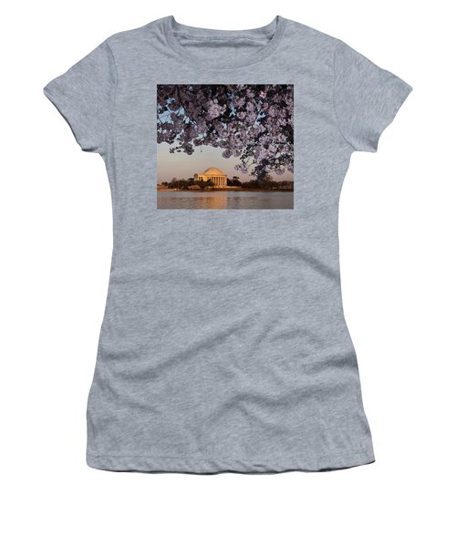 Cherry Blossom Tree With A Memorial Women's T-Shirt (Athletic Fit)