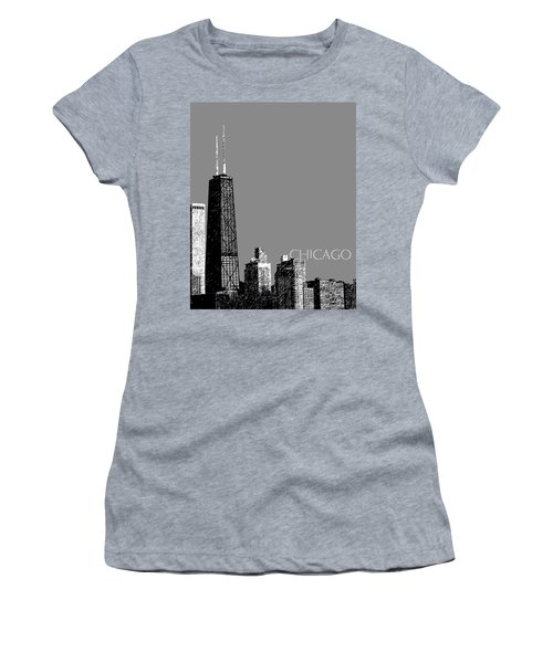 Chicago Hancock Building - Pewter Women's T-Shirt (Athletic Fit)