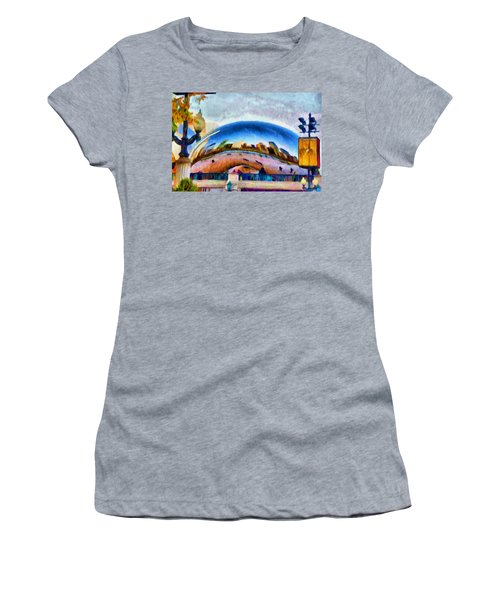 Chicago Reflected Women's T-Shirt (Athletic Fit)