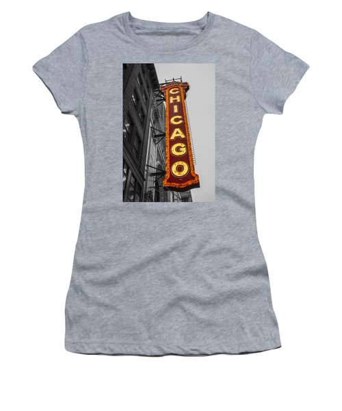 Chicago Theater Selective Color Women's T-Shirt