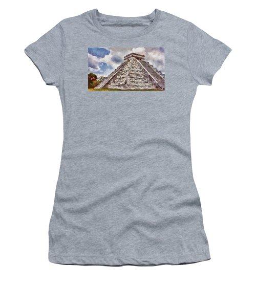 Chichen Itza Women's T-Shirt (Junior Cut) by Jeff Kolker