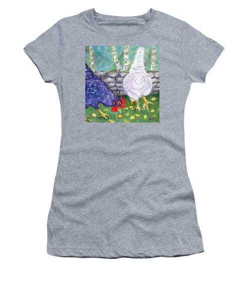 Chicken Neighbors Women's T-Shirt (Junior Cut)