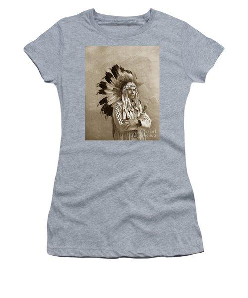 Chief Red Eagle Carmel California Circa 1940 Women's T-Shirt