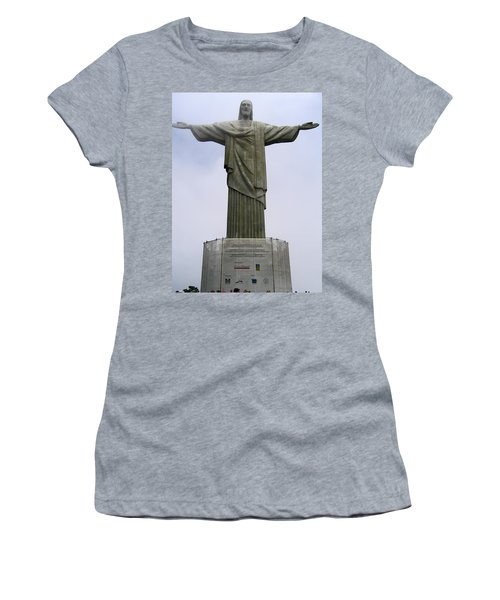 Christ The Redeemer Rio Women's T-Shirt (Junior Cut) by Jay Milo