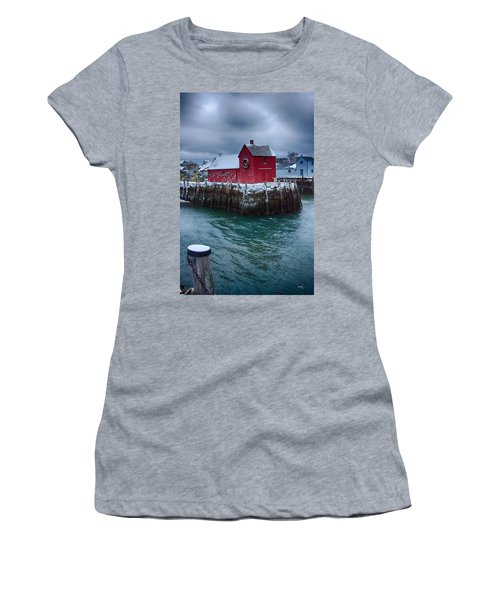 Christmas In Rockport Massachusetts Women's T-Shirt