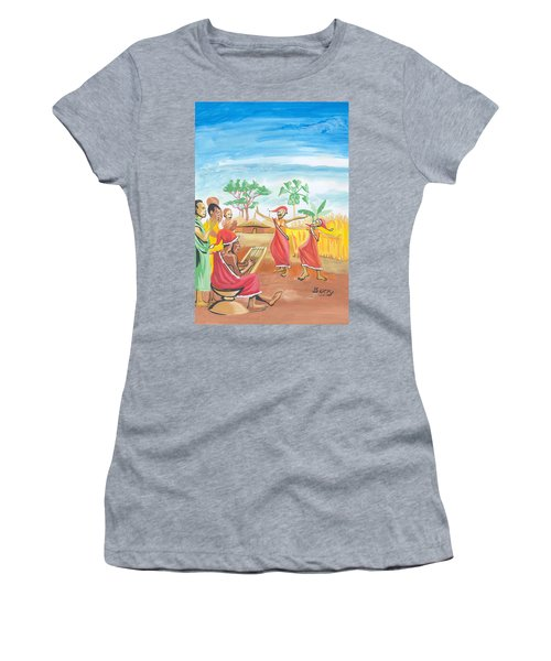 Christmas In Rwanda Women's T-Shirt (Junior Cut) by Emmanuel Baliyanga