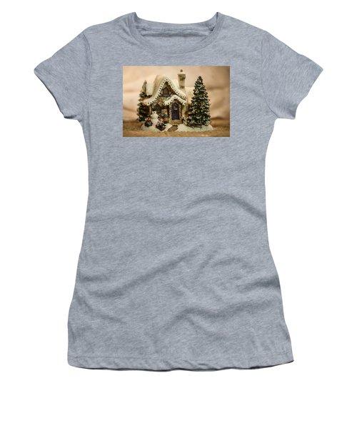 Women's T-Shirt (Junior Cut) featuring the photograph Christmas Toy Village by Alex Grichenko
