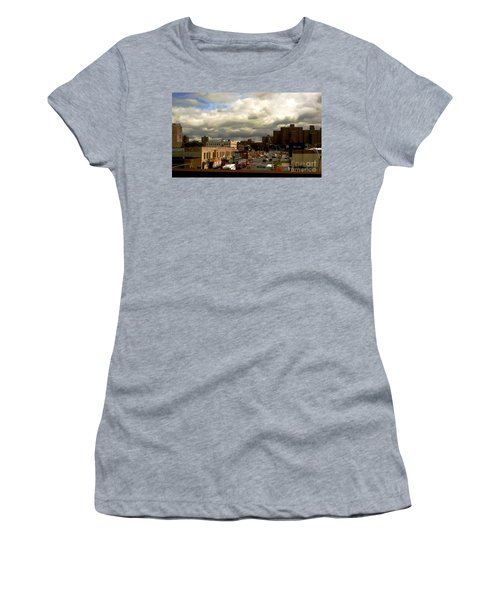 Women's T-Shirt (Junior Cut) featuring the photograph City And Sky by Miriam Danar