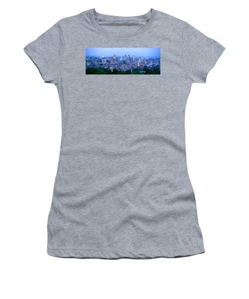Cityscape At Dusk, Montreal, Quebec Women's T-Shirt