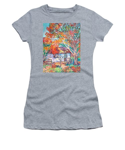 Claytor Lake Cabin In Fall Women's T-Shirt
