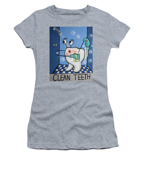 Women's T-Shirt featuring the painting Clean Tooth by Anthony Falbo