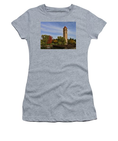 Clocktower Fall Colors Women's T-Shirt (Athletic Fit)
