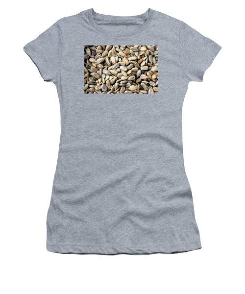 Close-up Of Sunflower Seeds Women's T-Shirt