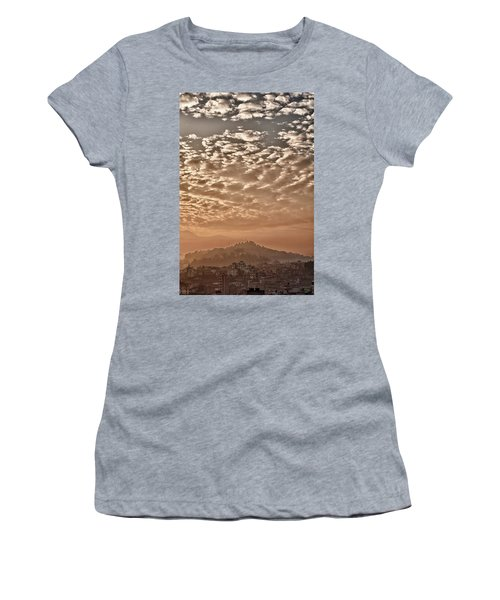 Cloud Over Kathmandu Women's T-Shirt (Athletic Fit)