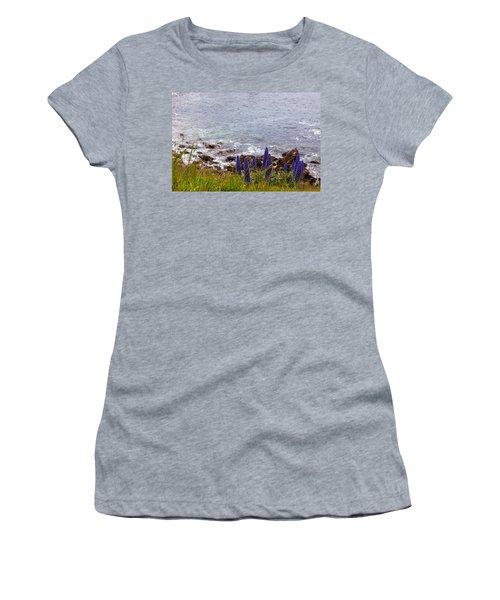 Coastal Cliff Flowers Women's T-Shirt