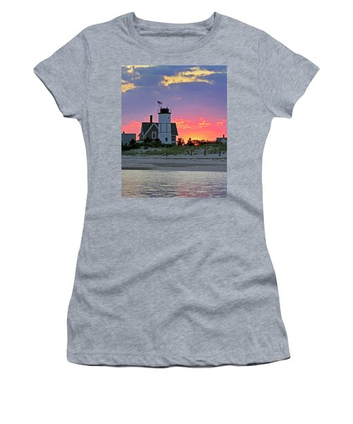 Cocktail Hour At Sandy Neck Lighthouse Women's T-Shirt
