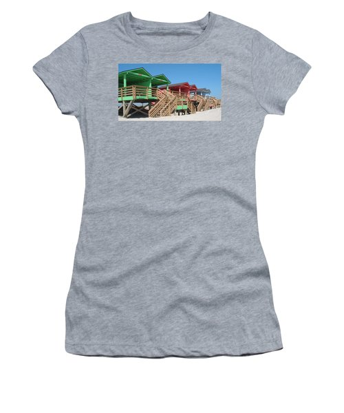 Colorful Cabanas Women's T-Shirt (Athletic Fit)