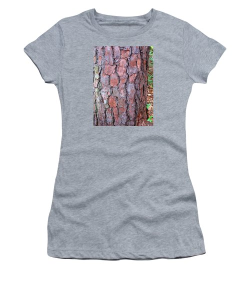 Colors And Patterns Of Pine Bark Women's T-Shirt (Junior Cut) by Connie Fox