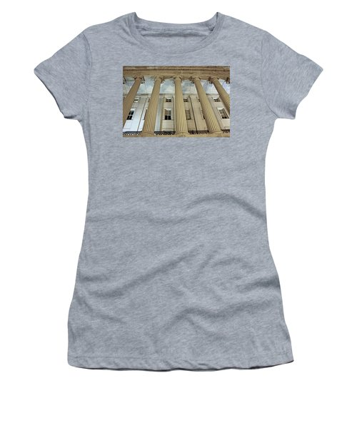 Women's T-Shirt (Junior Cut) featuring the photograph Columns Of History by Suzanne Stout