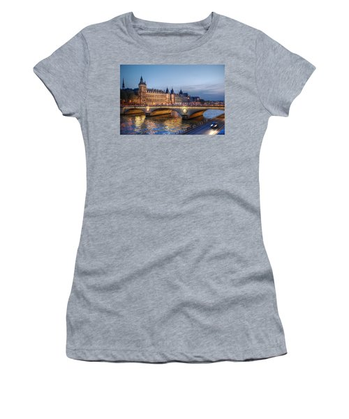 Conciergerie And Pont Napoleon At Twilight Women's T-Shirt