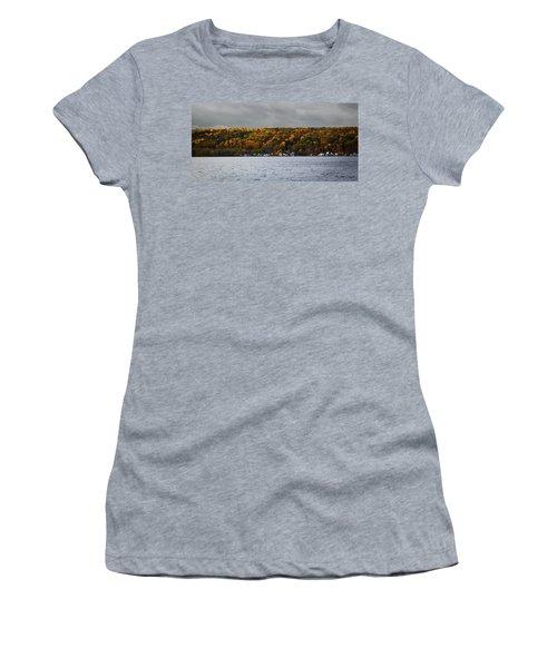 Conesus Lake Autumn Women's T-Shirt (Athletic Fit)