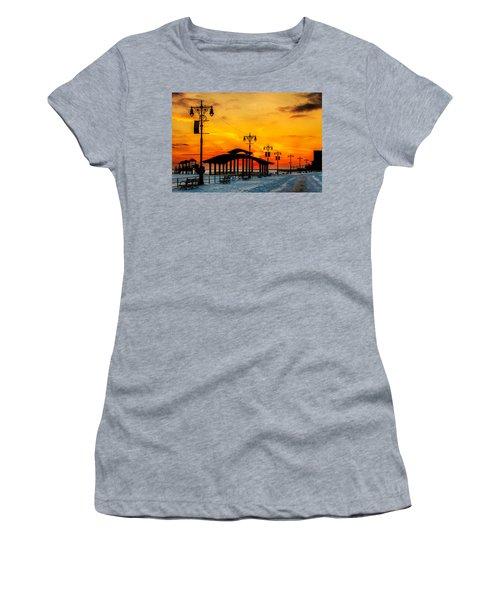 Coney Island Winter Sunset Women's T-Shirt