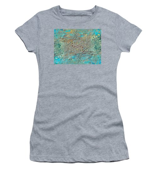 Women's T-Shirt (Junior Cut) featuring the photograph Cool Blue Tangle by Stephanie Grant
